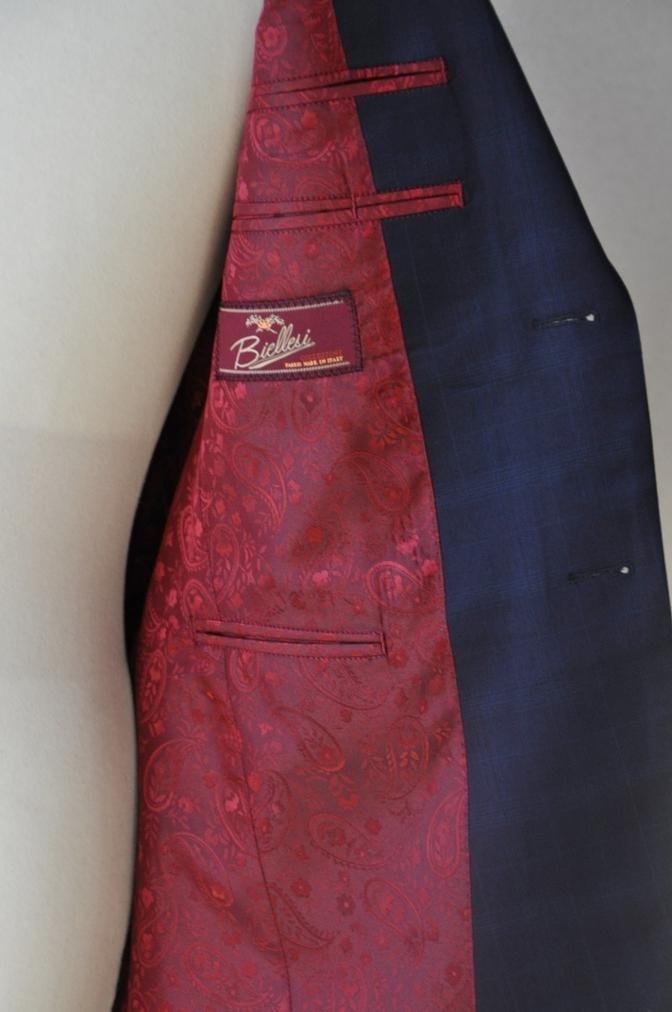 DSC12142 お客様のスーツの紹介-Biellesi ネイビーチェックス-ツ-