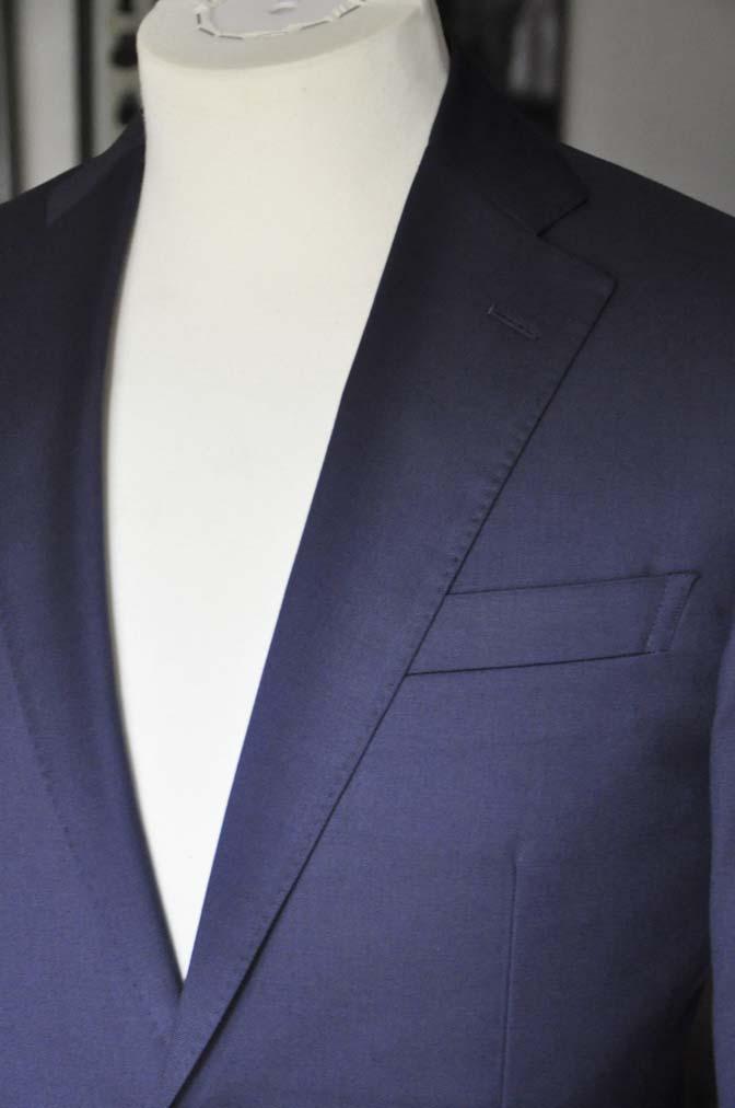 DSC12152 お客様のスーツの紹介-Biellesi 無地ネイビースーツ-