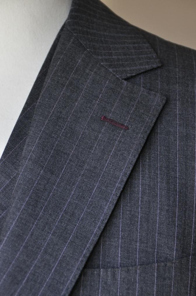 DSC12161 お客様のスーツの紹介-御幸毛織 グレーストライプ-
