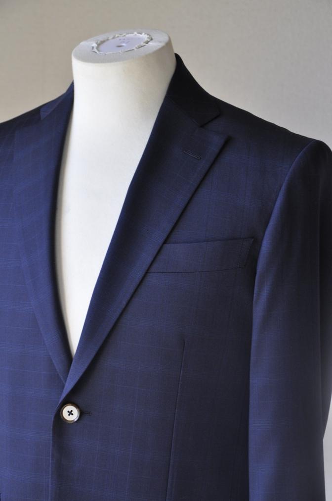 DSC12162 お客様のスーツの紹介-Biellesi ネイビーチェックス-ツ-