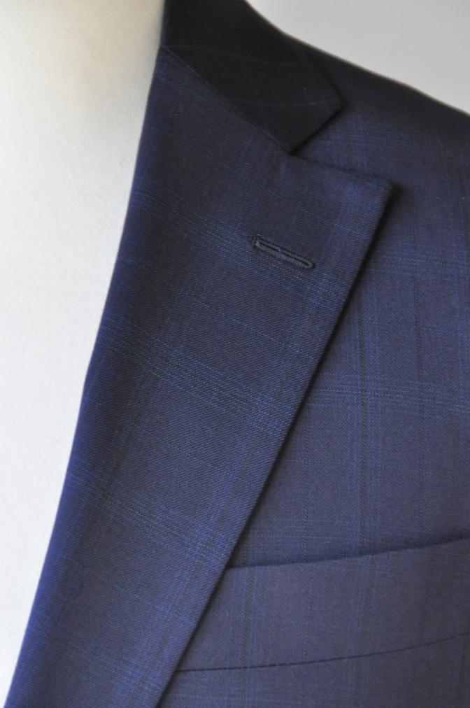 DSC12171 お客様のスーツの紹介-Biellesi ネイビーチェックス-ツ-