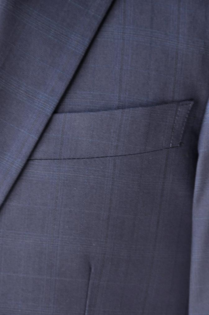 DSC12182 お客様のスーツの紹介-Biellesi ネイビーチェックス-ツ-