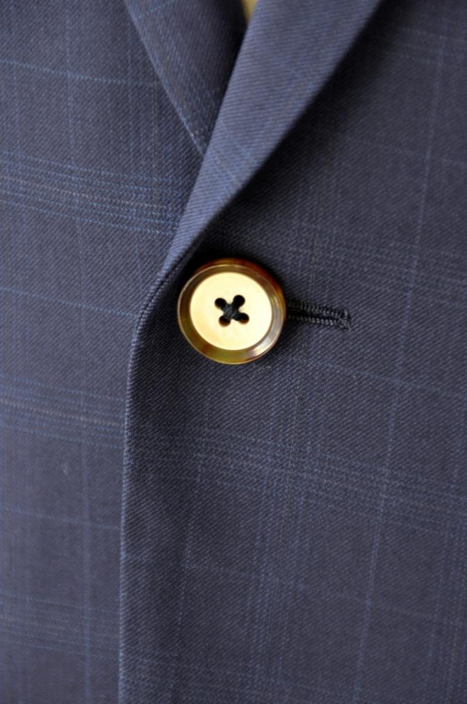 DSC12192 お客様のスーツの紹介-Biellesi ネイビーチェックス-ツ-