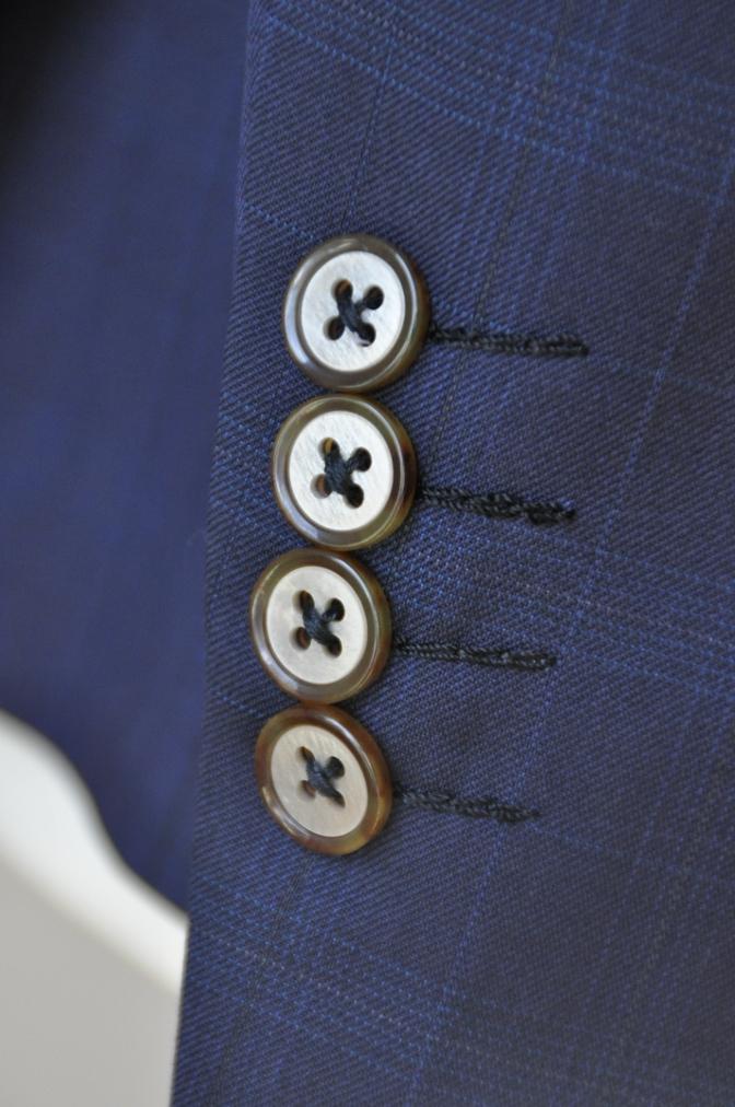 DSC12212 お客様のスーツの紹介-Biellesi ネイビーチェックス-ツ-