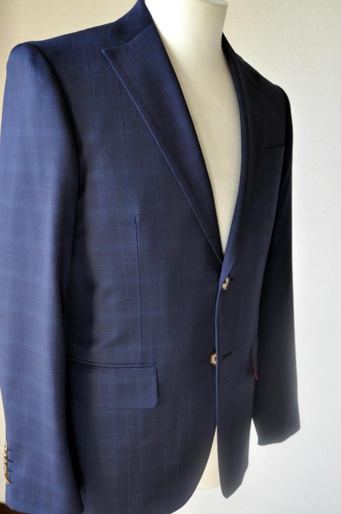 DSC1223 お客様のスーツの紹介-Biellesi ネイビーチェックス-ツ-