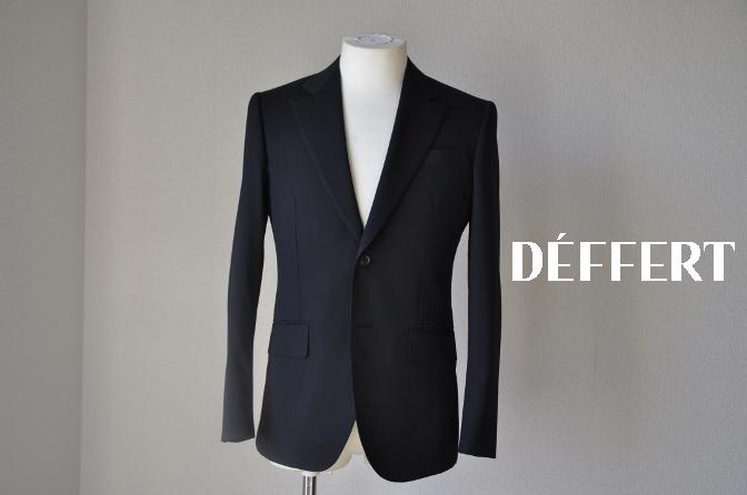 DSC12251 お客様のスーツの紹介-ブラックスーツ- 名古屋の完全予約制オーダースーツ専門店DEFFERT