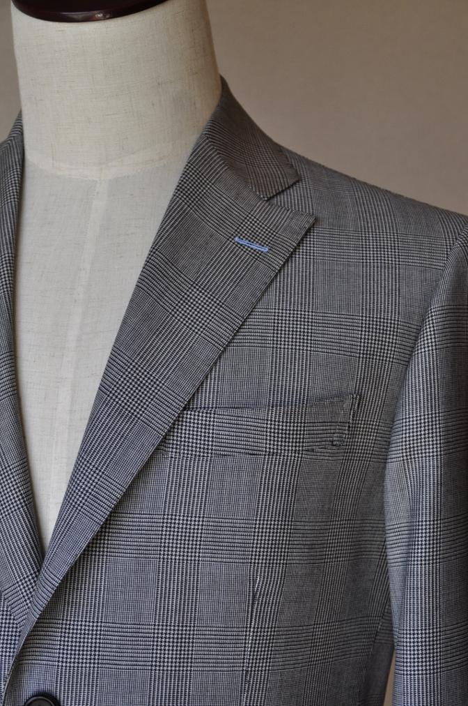 DSC1234 お客様のスーツの紹介-グレンチェック シングル2つボタン-