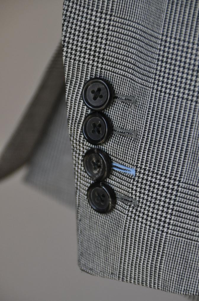 DSC1239 お客様のスーツの紹介-グレンチェック シングル2つボタン-