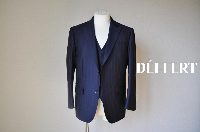DSC12451 お客様のスーツの紹介-Biellesi ネイビーストライプ スリーピース-