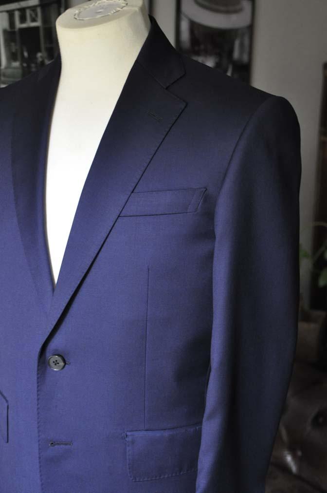 DSC12452 お客様のスーツの紹介-Biellesi 無地ネイビースーツ-