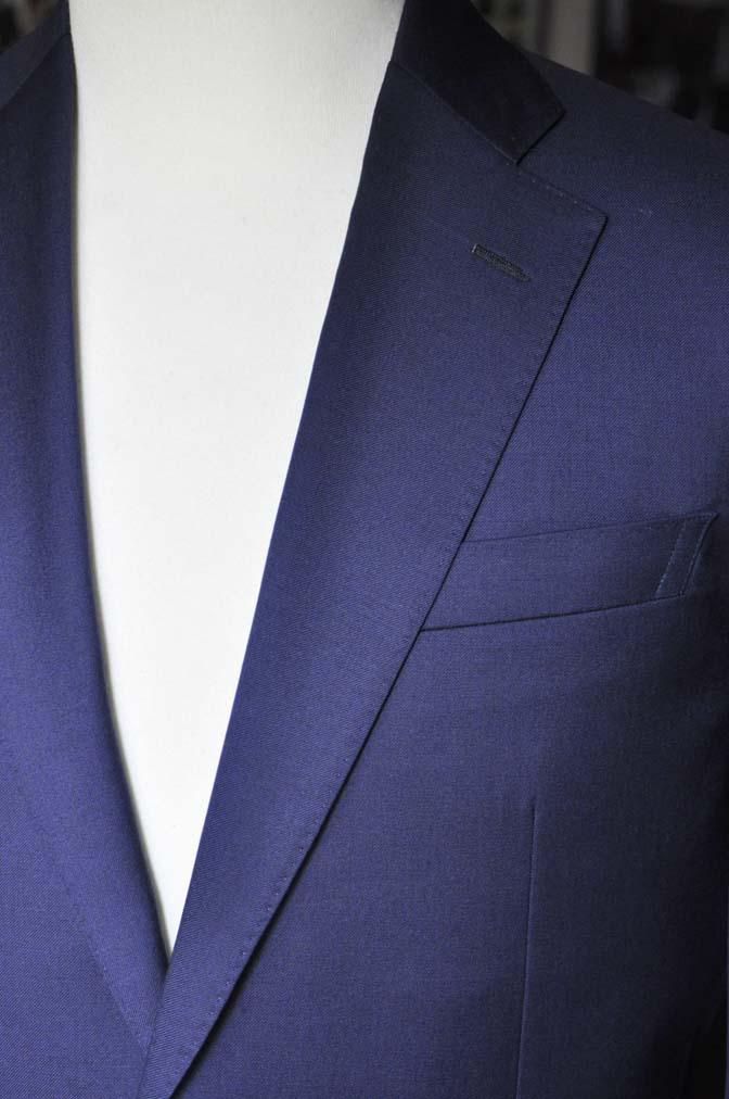 DSC12471 お客様のスーツの紹介-Biellesi 無地ネイビースーツ-
