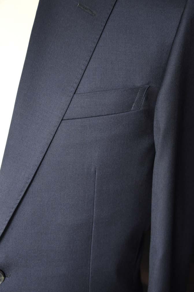 DSC12481 お客様のスーツの紹介-Biellesi 無地ネイビースーツ-