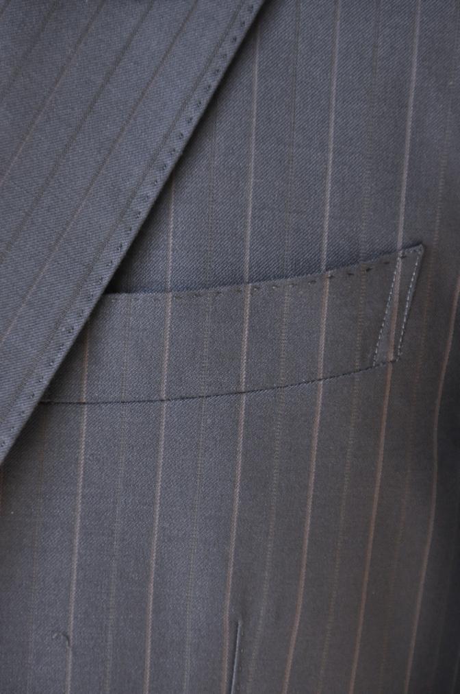 DSC1255 お客様のスーツの紹介-Biellesi ネイビーストライプ スリーピース-