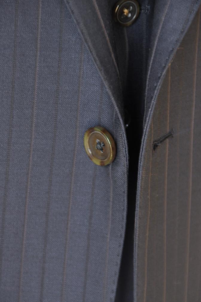 DSC1258 お客様のスーツの紹介-Biellesi ネイビーストライプ スリーピース-