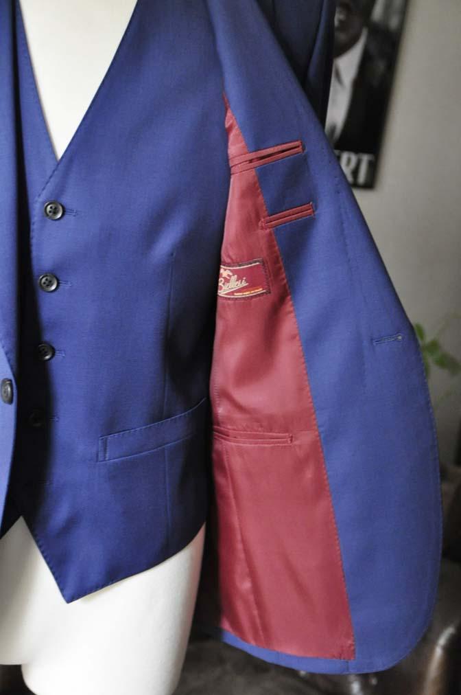 DSC12611 お客様のスーツの紹介-Biellesi 無地ネイビースリーピース-