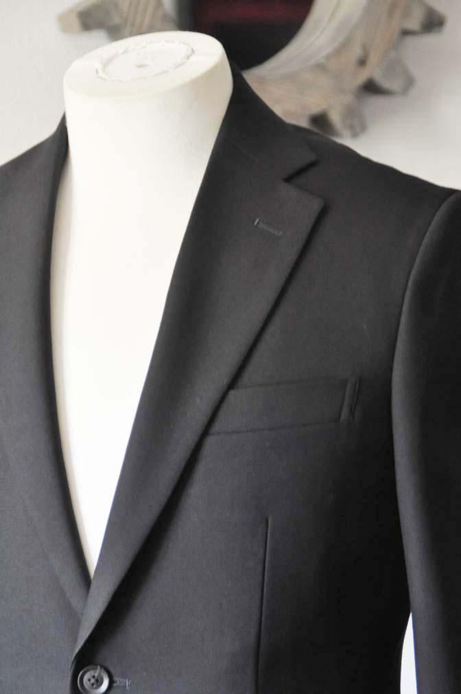DSC1264-2 お客様のスーツの紹介-無地ブラックスーツ-