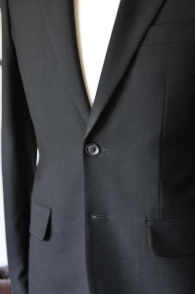 DSC1265-1 お客様のスーツの紹介-ブラックスーツ- 名古屋の完全予約制オーダースーツ専門店DEFFERT