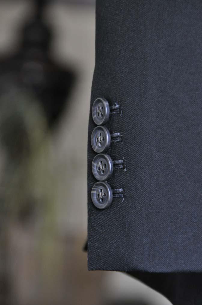 DSC1267 お客様のスーツの紹介-ブラックスーツ- 名古屋の完全予約制オーダースーツ専門店DEFFERT