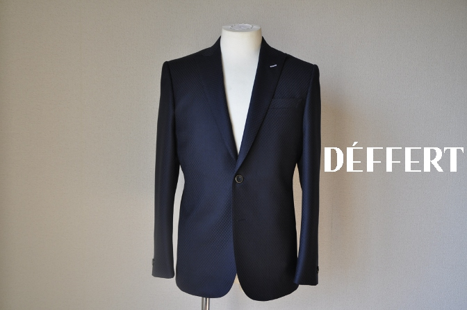 DSC12761 お客様のスーツの紹介-DORMEUIL KRONO ネイビースーツ-