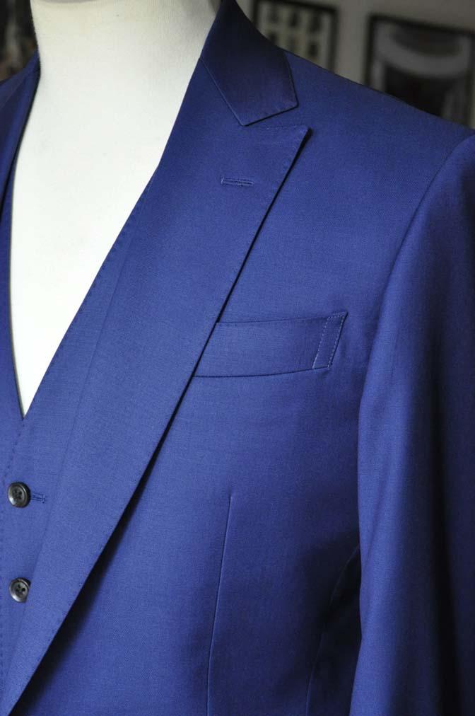DSC12772 お客様のスーツの紹介-Biellesi 無地ネイビースリーピース-