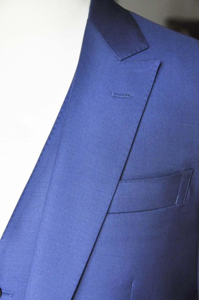 DSC12782 お客様のスーツの紹介-Biellesi 無地ネイビースリーピース-