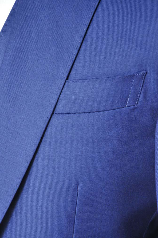 DSC12792 お客様のスーツの紹介-Biellesi 無地ネイビースリーピース-