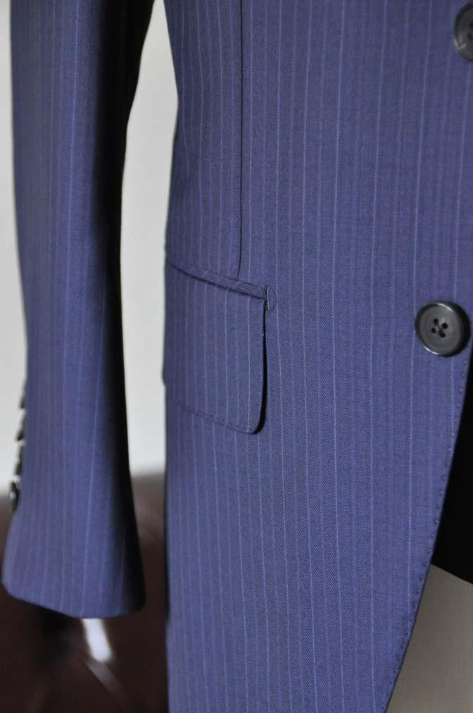DSC1281-1 お客様のスーツの紹介- Ermenegild Zegna ネイビーストライプスリーピース-