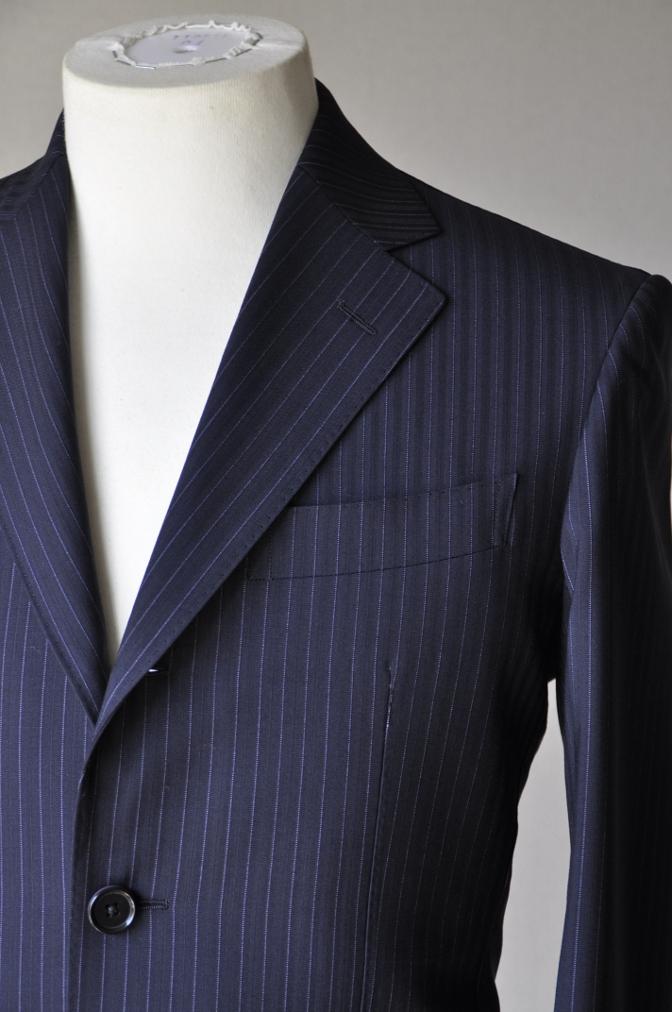 DSC1281 お客様のスーツの紹介-ネイビーストライプ-