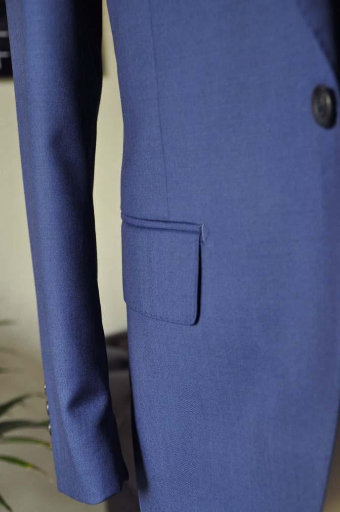 DSC12822 お客様のスーツの紹介-Biellesi 無地ネイビースリーピース-