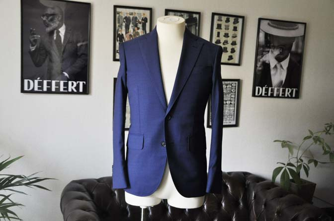 DSC12851 お客様のウエディング衣装の紹介-Biellesi無地ネイビー グレンチェックベスト-