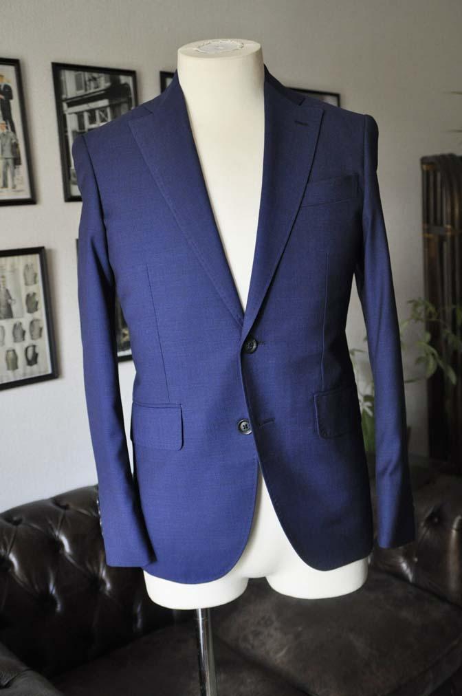 DSC12862 お客様のウエディング衣装の紹介-Biellesi無地ネイビー グレンチェックベスト-