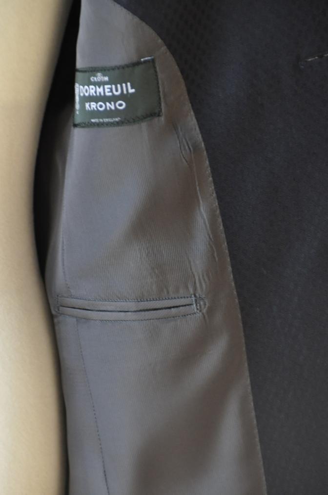 DSC12871 お客様のスーツの紹介-DORMEUIL KRONO ネイビースーツ-