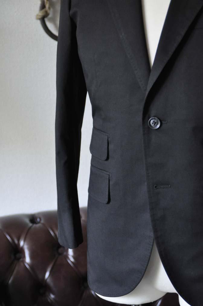 DSC1288-1 お客様のスーツの紹介- Larusmiani ブラックコットンスーツ-