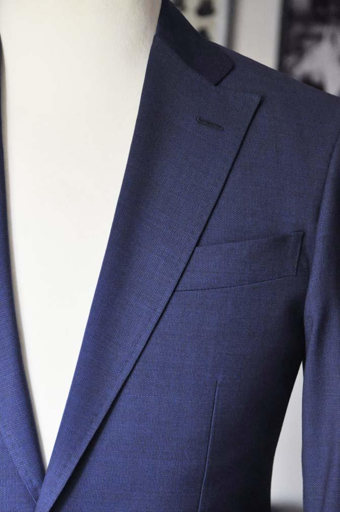DSC12882 お客様のウエディング衣装の紹介-Biellesi無地ネイビー グレンチェックベスト-