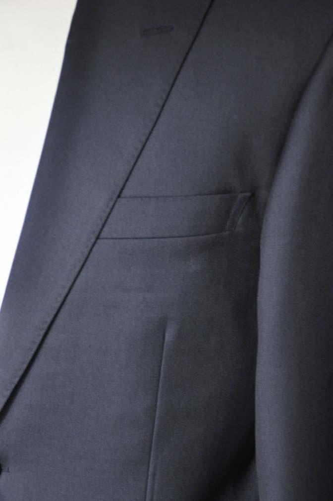 DSC13172 お客様のスーツの紹介- Biellesi 無地ネイビースーツ-