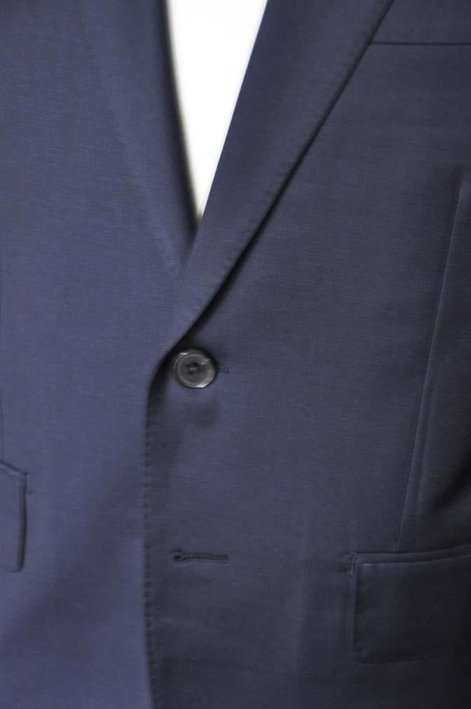 DSC13181 お客様のスーツの紹介- Biellesi 無地ネイビースーツ-