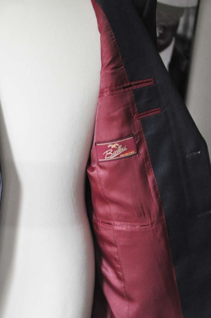 DSC13282 お客様のスーツの紹介-Biellesi 無地ネイビースーツ-