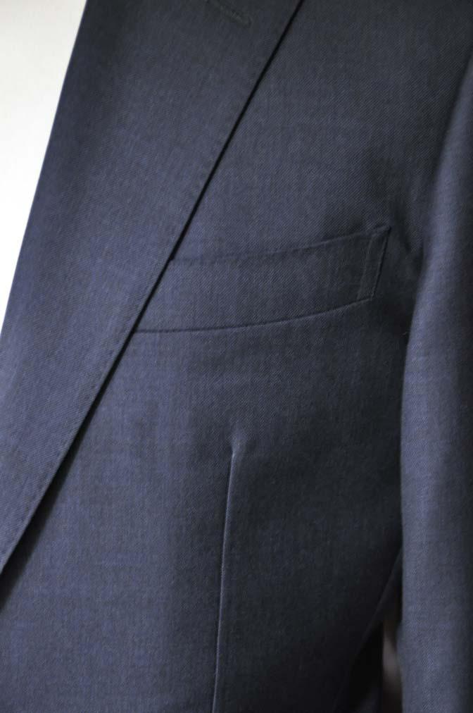 DSC1333 お客様のスーツの紹介-Biellesi 無地ネイビースーツ-