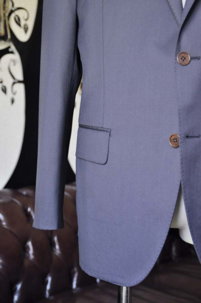 DSC1335 お客様のスーツの紹介-DORMEUIL EXEL無地ネイビースーツ-