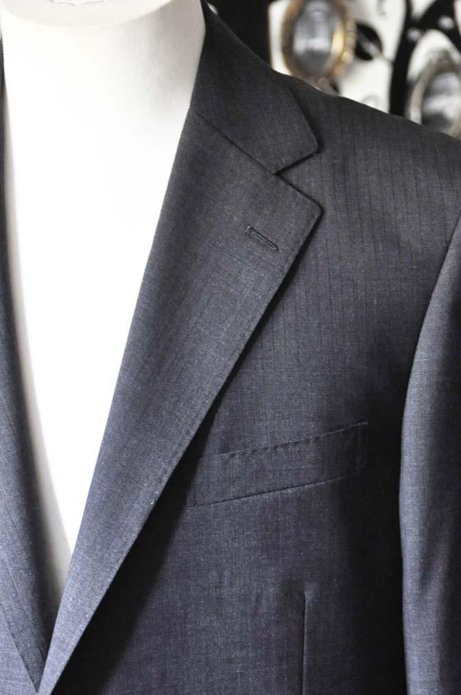 DSC1363 お客様のスーツの紹介-御幸毛織 グレーストライプスーツ-