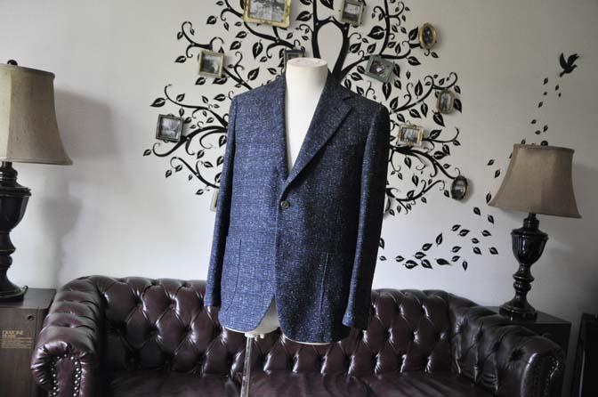 DSC1393 お客様のジャケットの紹介-FERLA ネイビージャケット- 名古屋の完全予約制オーダースーツ専門店DEFFERT