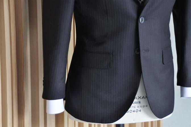 DSC1403 オーダースーツの紹介-ダークネイビーストライプスーツ- 名古屋の完全予約制オーダースーツ専門店DEFFERT