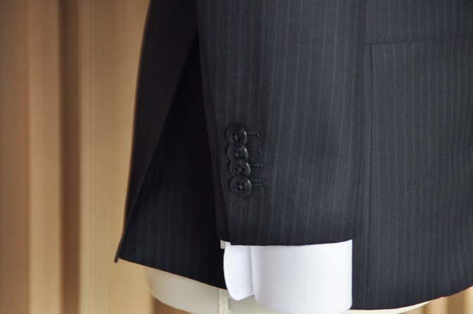 DSC1404-1 オーダースーツの紹介-ダークネイビーストライプスーツ- 名古屋の完全予約制オーダースーツ専門店DEFFERT
