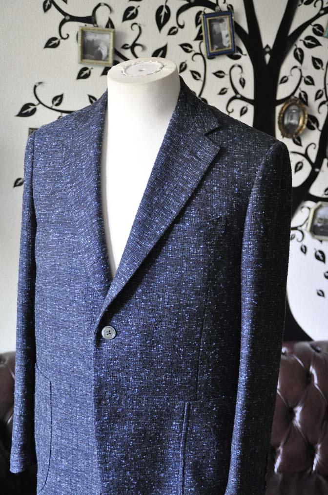 DSC1413-1 お客様のジャケットの紹介-FERLA ネイビージャケット- 名古屋の完全予約制オーダースーツ専門店DEFFERT