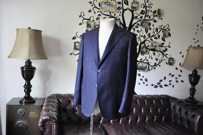 DSC1423-1 お客様のジャケットの紹介-CANONICOネイビーホップサック アンコンジャケット-