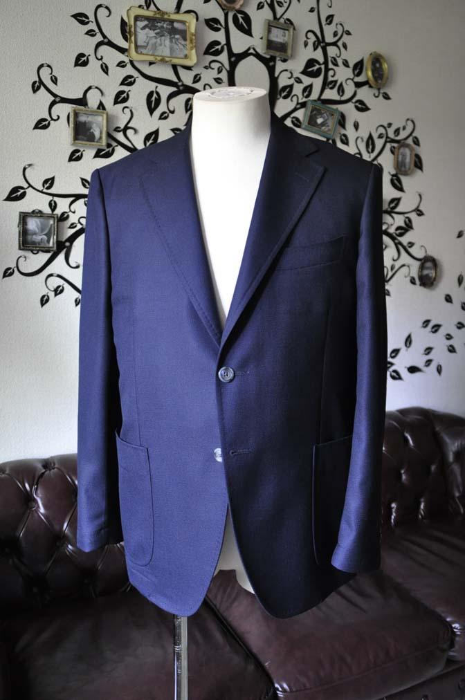 DSC1425-1 お客様のジャケットの紹介-CANONICOネイビーホップサック アンコンジャケット-