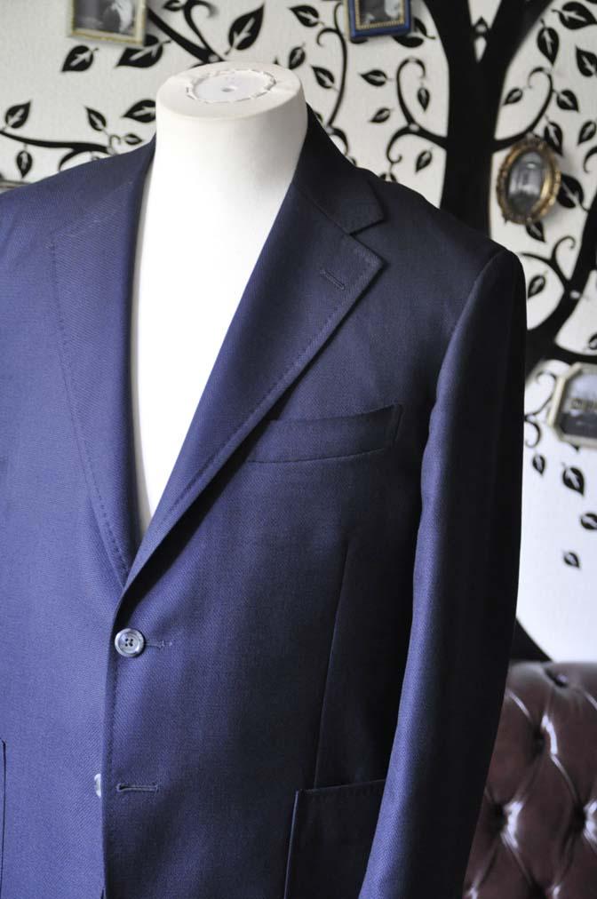 DSC1426-1 お客様のジャケットの紹介-CANONICOネイビーホップサック アンコンジャケット-