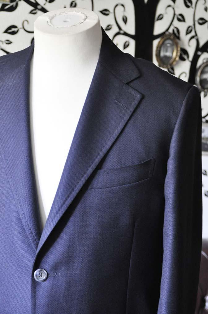 DSC1427-1 お客様のジャケットの紹介-CANONICOネイビーホップサック アンコンジャケット-