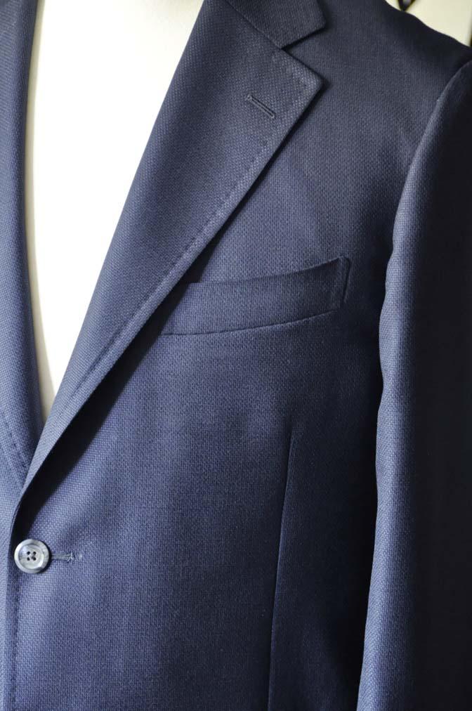 DSC1429-1 お客様のジャケットの紹介-CANONICOネイビーホップサック アンコンジャケット-