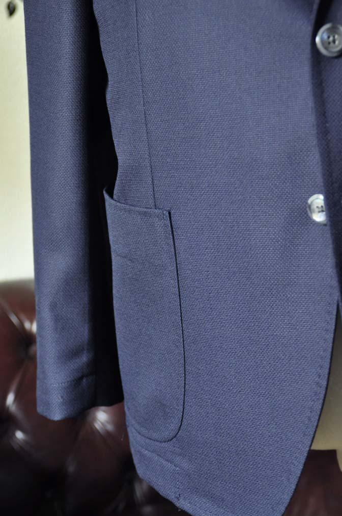DSC1431-1 お客様のジャケットの紹介-CANONICOネイビーホップサック アンコンジャケット-